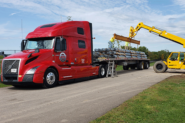 Flatbed Shipment Loading for Transit