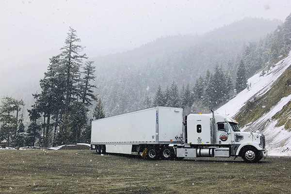 Dry van freight in the mountains