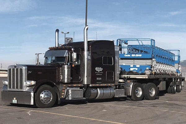 freight shipment flatbed