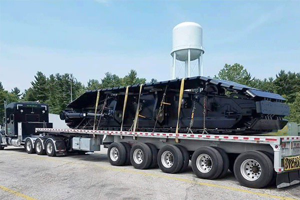 Flatbed freight shipment