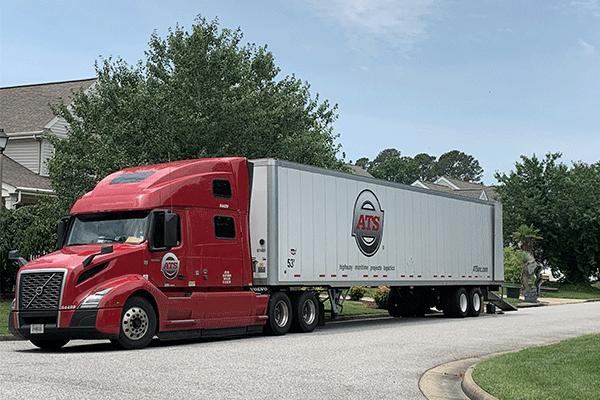 Dry-van-freight-shipment