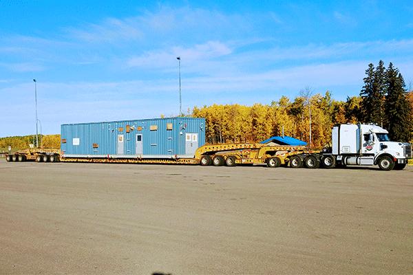 14-axle heavy haul freight shipment