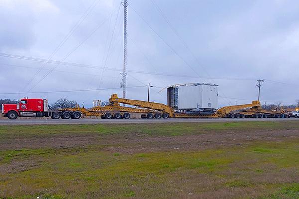 19-axle heavy haul freight shipment
