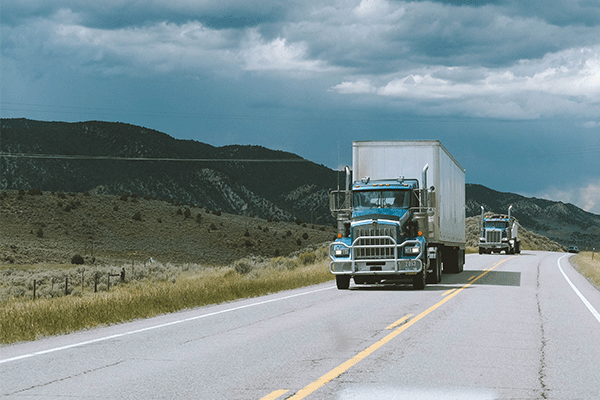 dry van freight on interstate