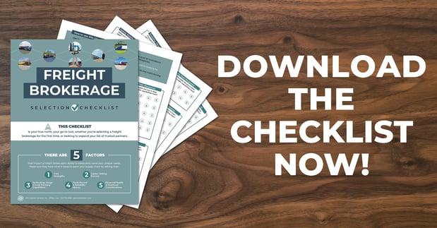 Freight Brokerage Checklist