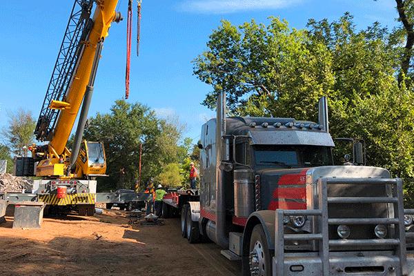 Truck Receiving Freight