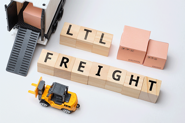 less than truckload freight graphic