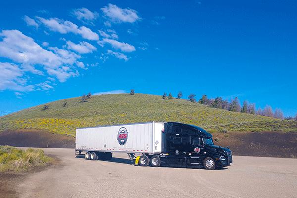 long haul freight shipment in transit