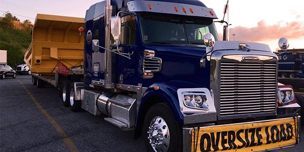 Oversized shipment in transloading yard