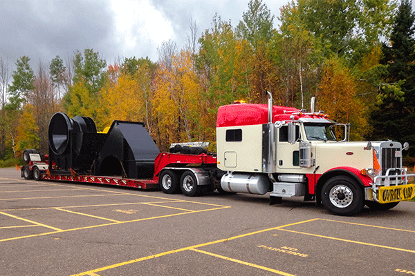 Four Axel semi trailer with freight shipment