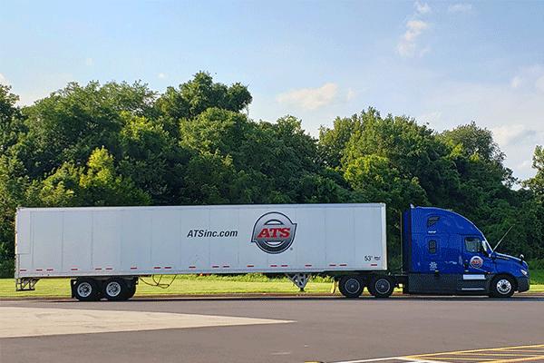 Dry van freight shipment