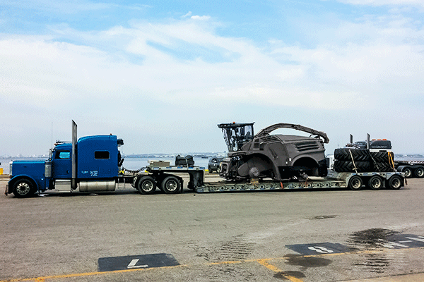 Heavy haul equipment shipment