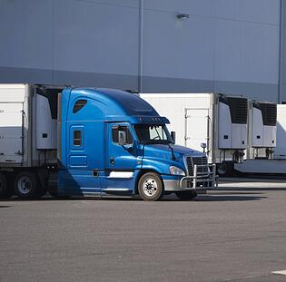 Temperature Controlled Trucks at Loading Dock