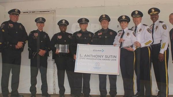 St. Cloud Police Department receiving an award