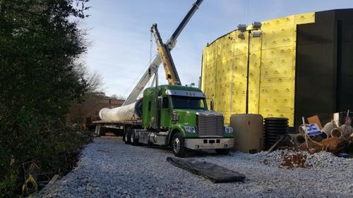 ATS Truck transporting Battle of Atlanta painting