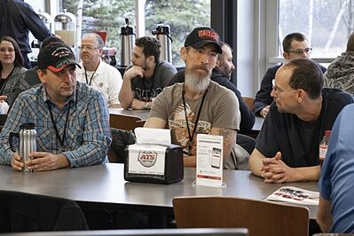 Veterans chat over coffee